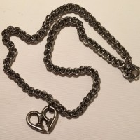 Nailmaille heart with JPL chain