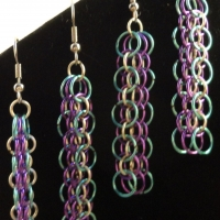 Titiania's Dragon Scale earrings