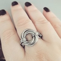 Mobius Ring in Steel