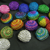 Vari-coloured Chainmaille Hacky Sacks