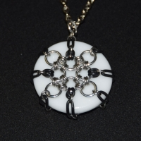 HyperLynks Caged Cabochon Pendant (Snowflake)