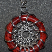 HyperLynks Glass Dreams Pendant (Red)