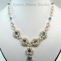 Byzantine Blue Crystal Necklace