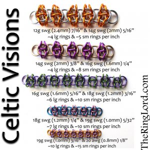 Celtic Visions - TRL Ring Size Guide