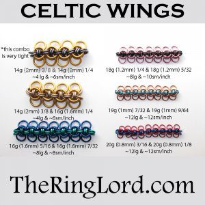 Celtic Wings - TRL Ring Size Guide