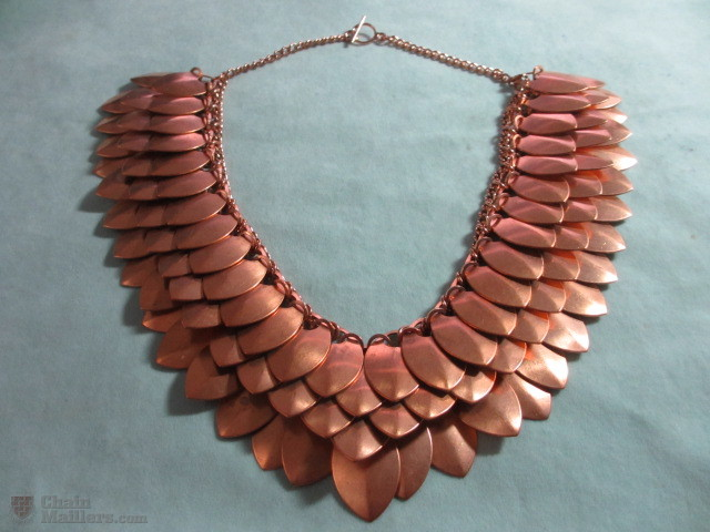 Large Copper Scale Maille Collar